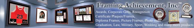 Corporate certificate frames with clock by Framing Achievement