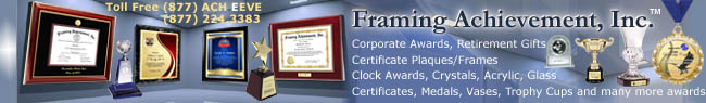 Corporate Crystal Awards by Framing Achievement Inc.