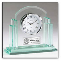 Engraved Desk Clock Award