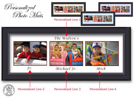 scroll down to order your personalized collage picture frame or photo mat
