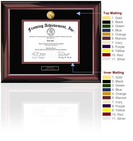 Find college diploma frames and university graduation certificate frames