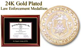 Law Enforcement certficate frame