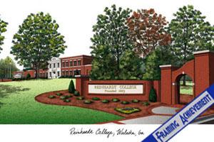 Reinhardt College Lithograph Diploma Frame Reinhardt