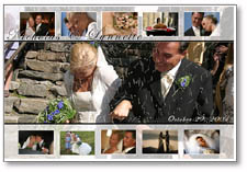 Wedding Photo Collage - Photo Collage Gifts - Photo Montage and Picture Collage from your own photos by framingachievement.com. We offer personalized photo collage and photo montages for weddings.