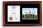 Rice University large-size diploma frame with campus photo - The standard diploma frame for college graduates