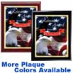 Patriotic Eagle Premium Digital Imprint Stylized Designer Award Plaque