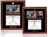 select from 9 navy certificate frames with navy print photo