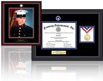 select from 15 army frames and picture frames