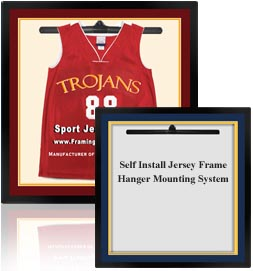 Shadow Box Basketball Jersey Frame And Basketball Jersey Display