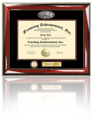 cpa board of accountancy certificate frame - Document Frames