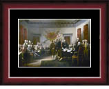 The Declaration of Independence Print Frame