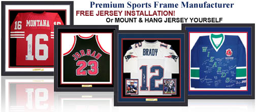 Custom jersey frame sport shadow box frame and jersey case by sports jersey frames solutioingenieria Choice Image