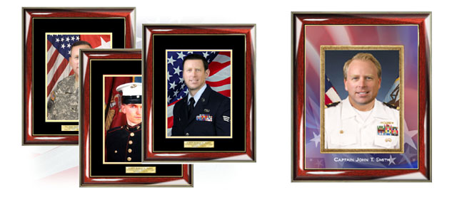 Personalized Military Gift Frames and Certificate Frames