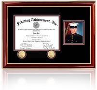 this elegant certificate frame includes
