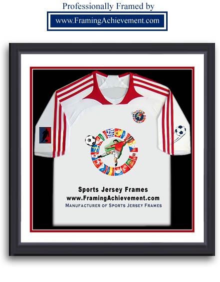 Custom Soccer Jersey Frame by FramingAchievement.com